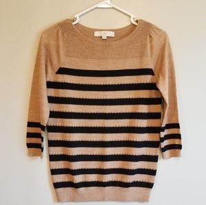 LOFT • 3/4 Stripe Lightweight Sweater